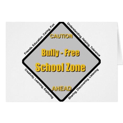 Matón - zona de la escuela libre tarjetón