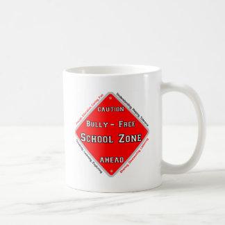 Matón - zona de la escuela libre tazas de café