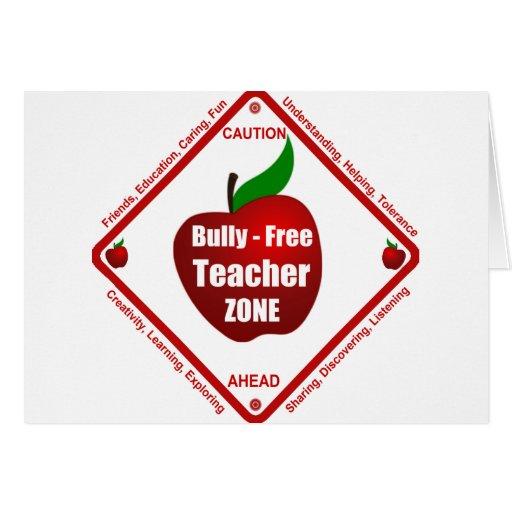 Matón - zona libre del profesor tarjeta de felicitación