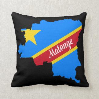 """Matonge pattern 16"""" x 16"""" pillow made in USA"""