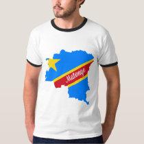 Matonge pattern Ringer white T shirt