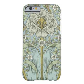 Matorral Desig floral de la primavera del vintage Funda De iPhone 6 Barely There
