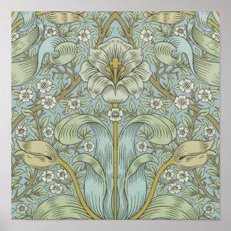 Matorral Desig floral de la primavera del vintage  Impresiones