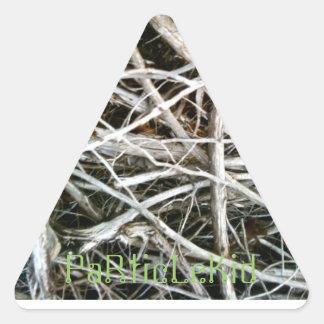 Matorrales triangulares de PaRticLeKid Pegatina Triangular