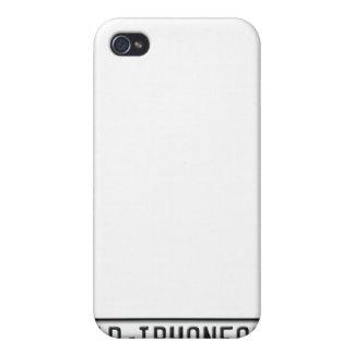 Matrícula de la UE iPhone 4 Carcasas