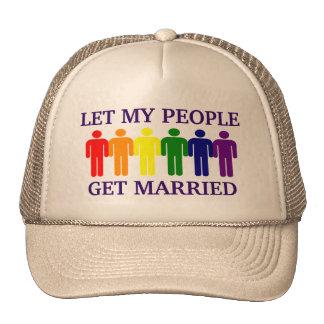 Matrimonio homosexual de la ayuda del matrimonio h gorro