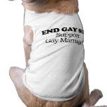 Matrimonio homosexual de la ayuda ropa de perro