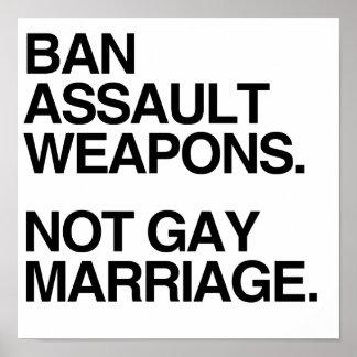 MATRIMONIO HOMOSEXUAL DE LAS ARMAS DE ASALTO DE LA POSTERS