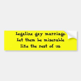 Matrimonio homosexual de Legaliza Pegatina Para Auto