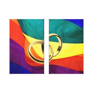 Matrimonio homosexual en lona impresiones de lienzo