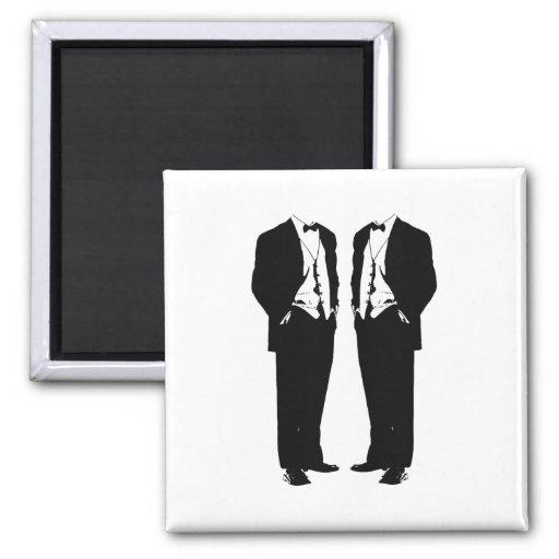 Matrimonio homosexual imán cuadrado