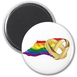 Matrimonio homosexual imán redondo 5 cm