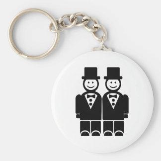 Matrimonio homosexual llavero redondo tipo pin