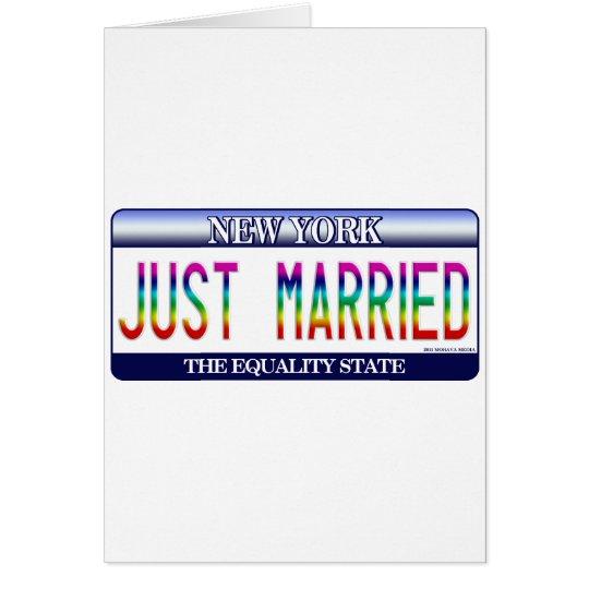 Matrimonio homosexual Nueva York Tarjeta De Felicitación