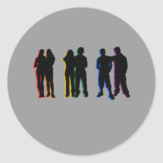 Matrimonio homosexual/nuevo amor pegatina redonda