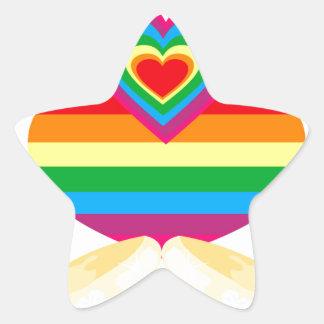 matrimonio homosexual pegatina en forma de estrella