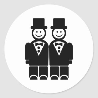 Matrimonio homosexual pegatina redonda