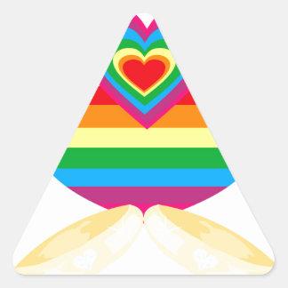 matrimonio homosexual pegatina triangular