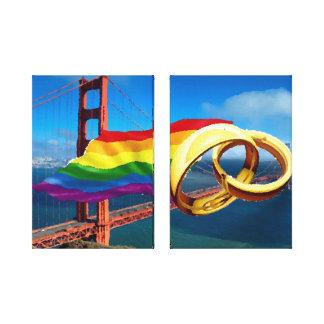 Matrimonio homosexual San Francisco en lona Impresión En Lona Estirada