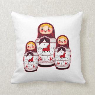 Matrioshka Throw Pillow