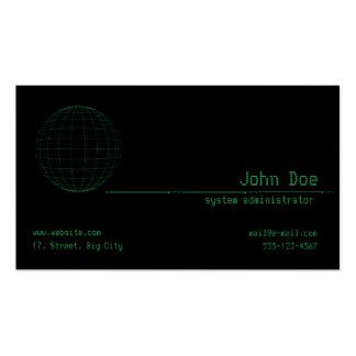 Matrix Green Sphere Business Card Template
