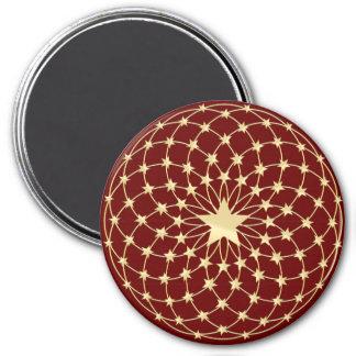 Matrix of golden stars expanding circles magnet