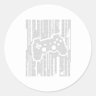 Matrix Pad - Controller Gamer Video Games Gaming Classic Round Sticker