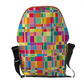 Matrix Squares Mosaic Colors Pattern Art Bag Commuter Bags