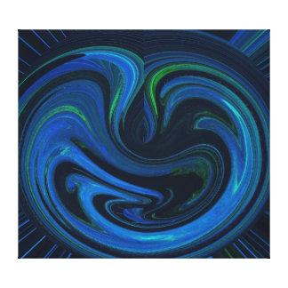 Matriz abstracta de la impresión envuelta azul de  impresiones en lienzo estiradas