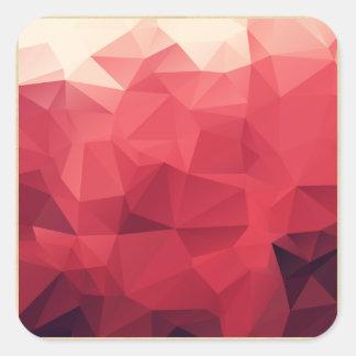 Matriz color de rosa de la faceta pegatina cuadrada