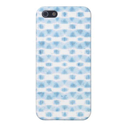 Matriz de punto azul clara del océano de círculos iPhone 5 fundas
