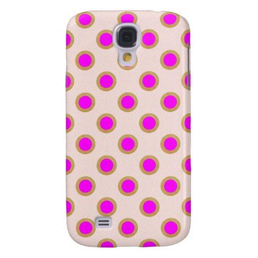 Matriz de punto rosada EXÓTICA: Joya del modelo Funda Para Galaxy S4