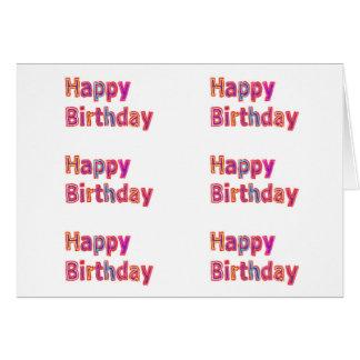 Matriz del feliz cumpleaños: ART101 tejó modelos Tarjeta De Felicitación