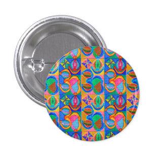 Matriz del mantra de OM: La exhibición n da lejos Pin Redondo De 1 Pulgada