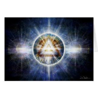 Matriz del triángulo tarjeta de felicitación
