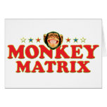 Matriz enrrollada del mono felicitacion