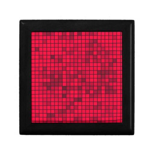 Matriz roja de la rejilla cajas de recuerdo