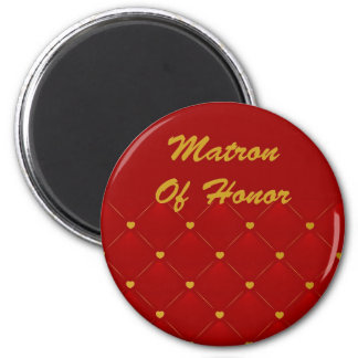 Matron Honor (red/gold) Refrigerator Magnets