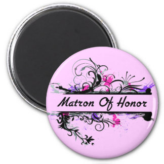 Matron Of Honor 2 Inch Round Magnet