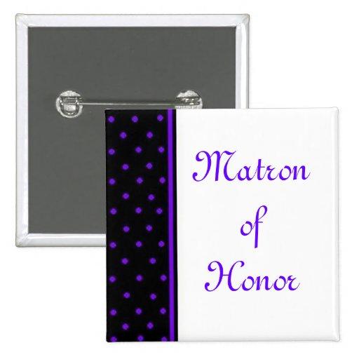 Matron of Honor 2 Inch Square Button