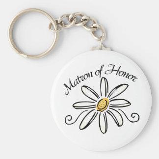 Matron of Honor Basic Round Button Keychain