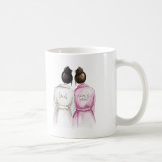 Matron of Honor? Black Bun Bride Dk Br Maid Coffee Mug