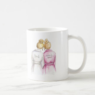 Matron of Honor? Blonde Bun Bride Bl Bun Maid Coffee Mug