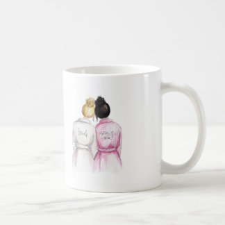 Matron of Honor? Blonde Bun Bride Black Bun Maid Coffee Mug