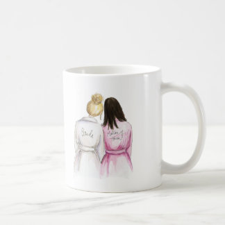 Matron of Honor? Blonde Bun Bride Dk Br Long Maid Coffee Mug