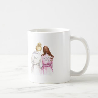 Matron of Honor? Blonde Bun Bride Long Auburn Maid Coffee Mug