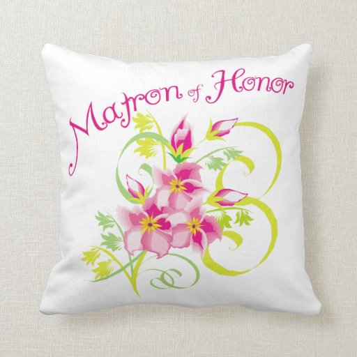 Matron of Honor Bridal Party Pillow