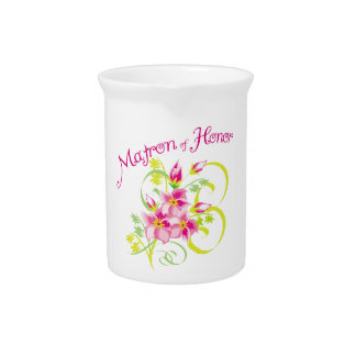 Matron of Honor Bridal Party Drink Pitchers