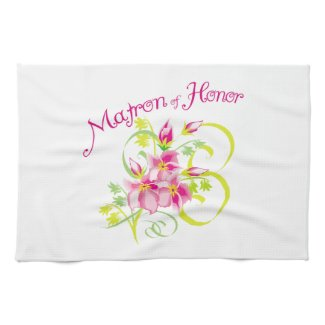 Matron of Honor Bridal Party Towels