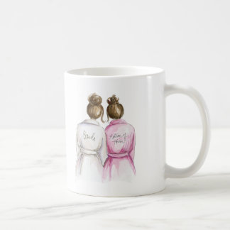 Matron of Honor? Brunette Bun Bride Br Bun Maid Coffee Mug